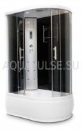 Душевая кабина Aquapulse 4106А (L) gray black 120*80*220 - Теплоторг
